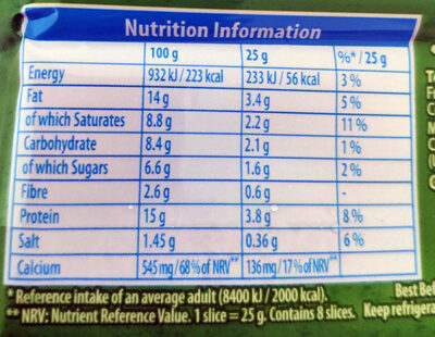 Cheese Slices - Nutrition facts - en