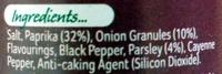 Schwartz Perfect Shake Chicken Herb and Spice Blend - Ingredients