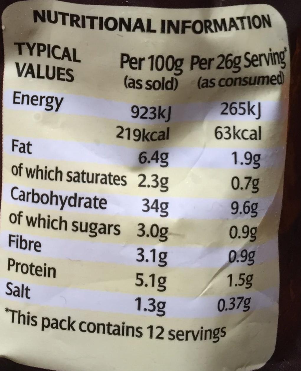Sage & Onion Stuffing Balls - Nutrition facts - en