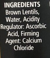 Lentils - Ingrédients
