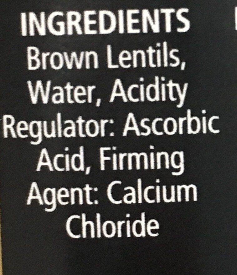 Lentils - Ingredients
