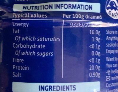 Princesa Tuna sunflower oil - Nutrition facts - en