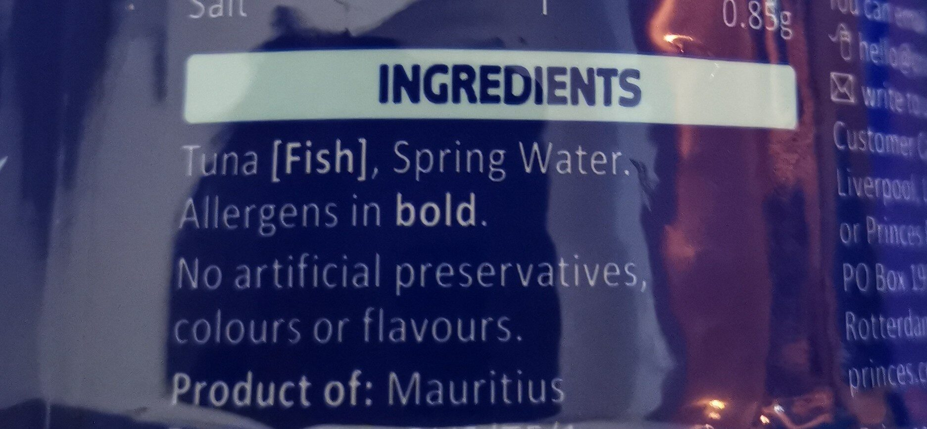 Tuna - Ingredients - en
