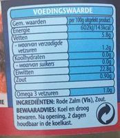 wild pacific red salmon - Voedingswaarden - nl