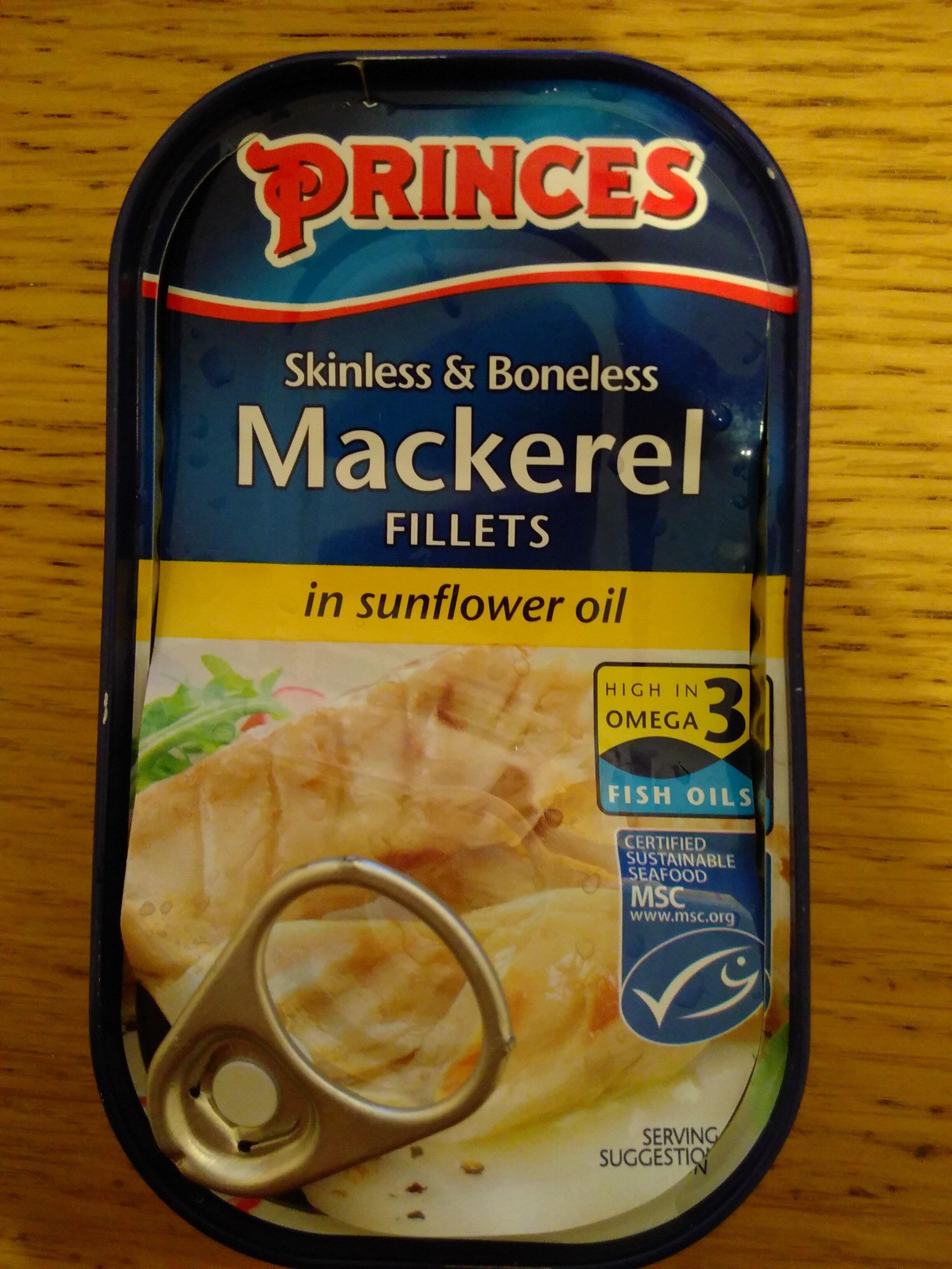 Mackerel Fillets in Sunflower Oil - Product
