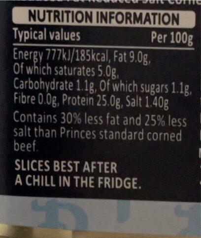 Lean corned beef - Nutrition facts - en
