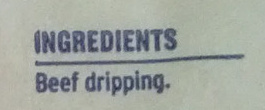 Finest Beef Dripping - Ingredients - en