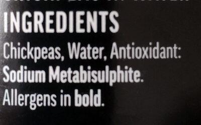 Chickpeas in water - Ingredienti - en