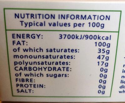 Trex - Informations nutritionnelles - en