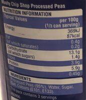 Mushy Chip Shop - Nutrition facts - en