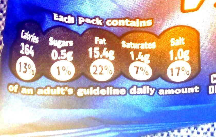 Mc Coy's - Nutrition facts - en