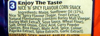 Nik naks nice and spicy - Ingrediënten