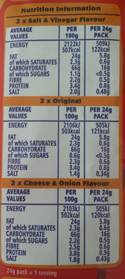 Hoopa Hoops variety pack - Nutrition facts