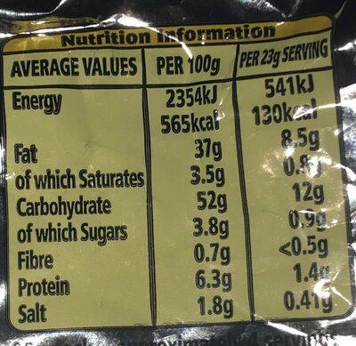 Nik Naks - Rib 'n' Saucy - Voedingswaarden
