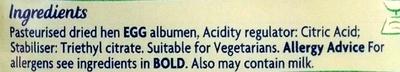 Free Range Egg White Powder - Ingredients