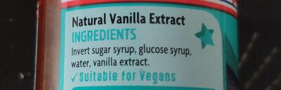 Natural Madagascan Vanilla Extract - Ingredients - en