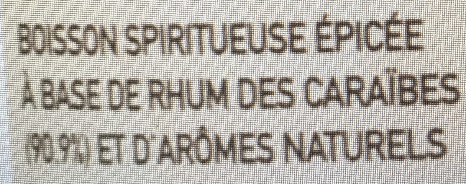 Rhum ambré - Ingredients