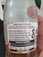 Gordon's sin alcohol - Ingredients - es