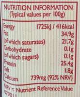 Mature Cheddar - Informations nutritionnelles