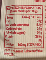 Mature Lighter - Nutrition facts