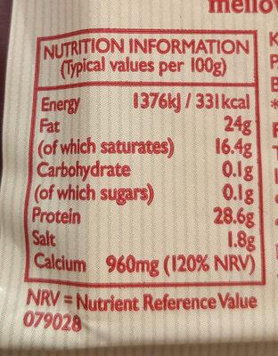 Mature Lighter - Informations nutritionnelles - en