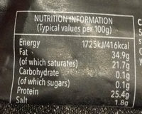 Extra mature cheddar - Nutrition facts - en