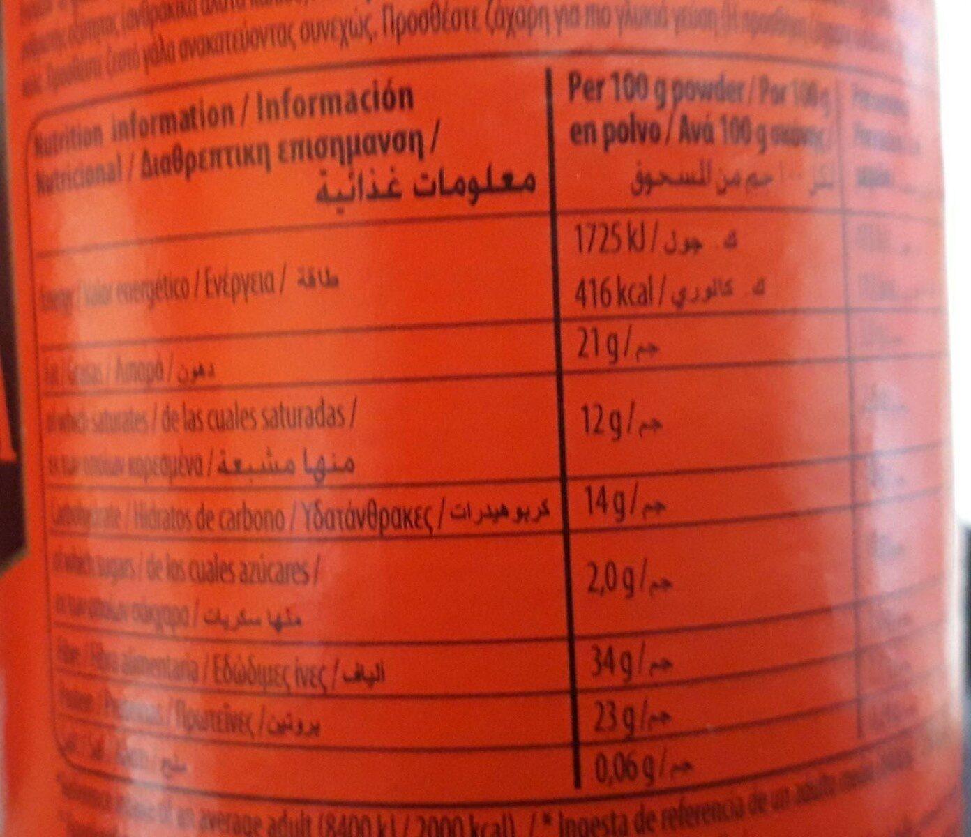 Cadbury Cocoa Powder - حقائق غذائية - fr