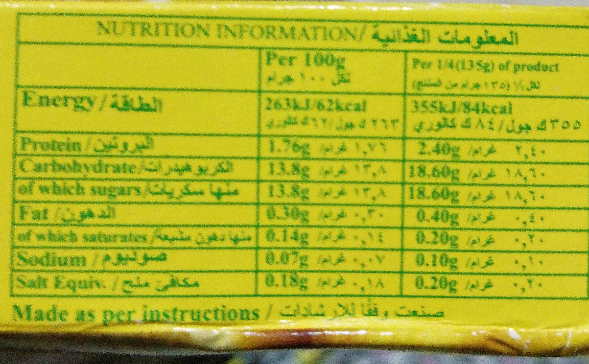 - Voedingswaarden - ar