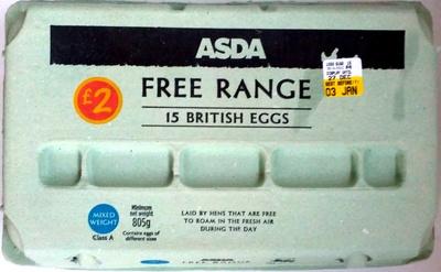 15 free range British eggs - Product - en