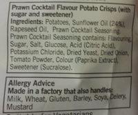 Prawn Coctail Crisps - Ingredients