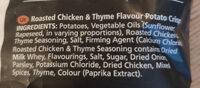 Sensations Roasted Chicken & Thyme Flavour Potato Crisps - Ingredients - en