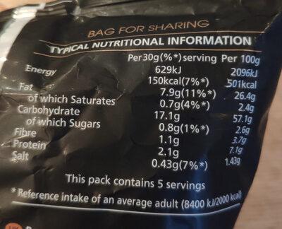 Sensations Roasted Chicken & Thyme Flavour Potato Crisps - Nutrition facts - en