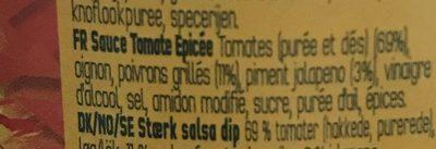 Doritos hot salsa - Ingrediënten