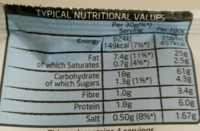 Mixups Snacks mix Cheese Flavour - Nutrition facts - en