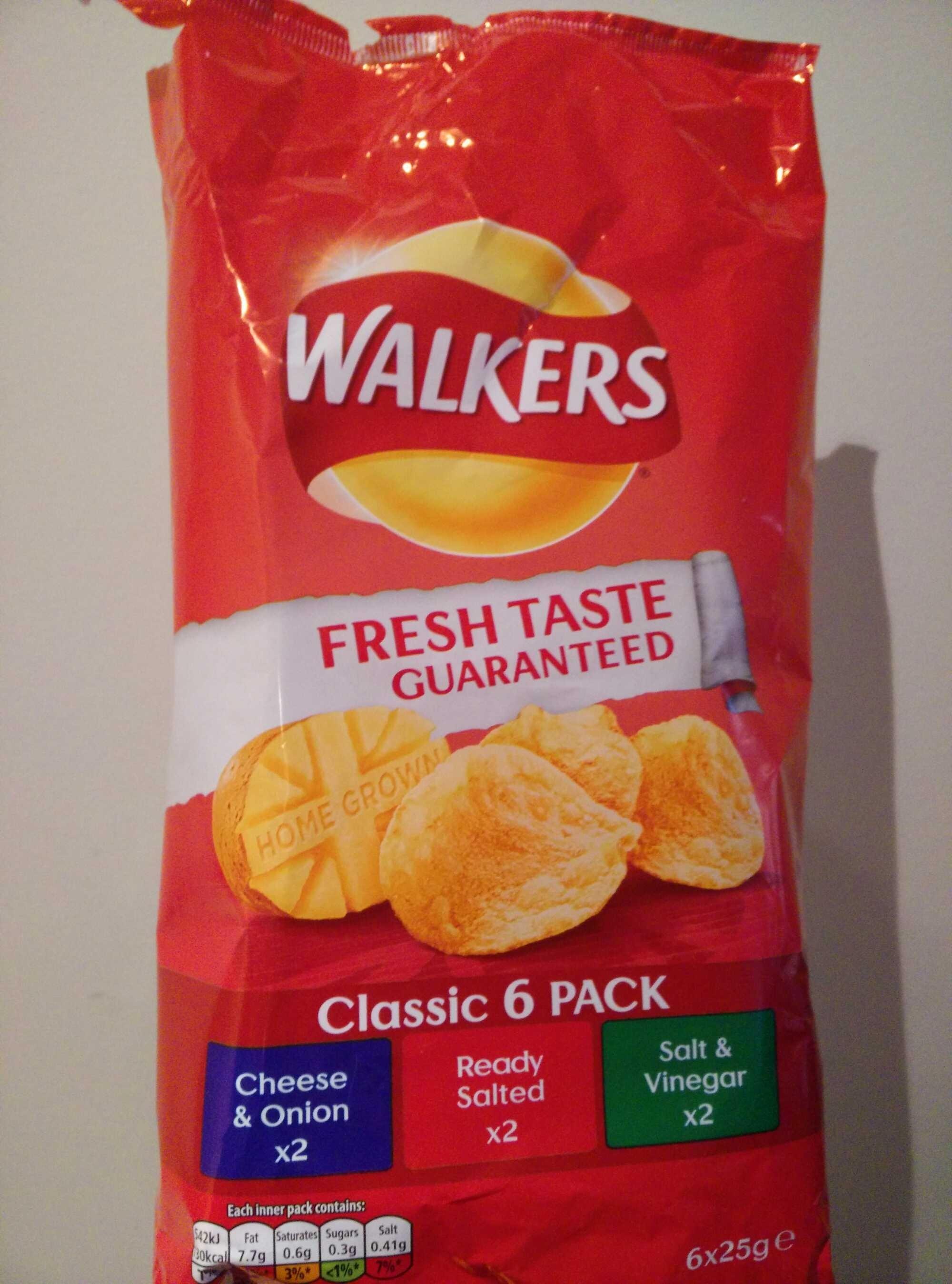 Walkers Variety Crisps 6 X 25 G - Product - en