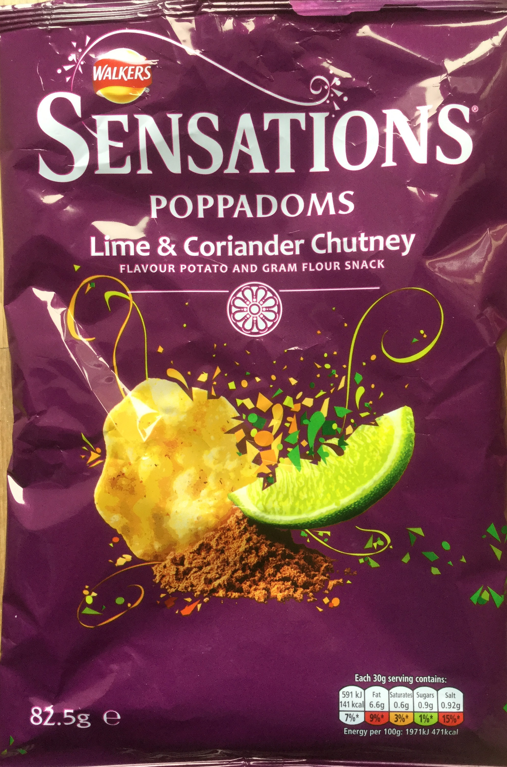 sensations poppadoms lime &coriander - Product
