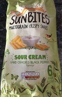 Sunbites sour cream and cracked black pepper - Produit - en