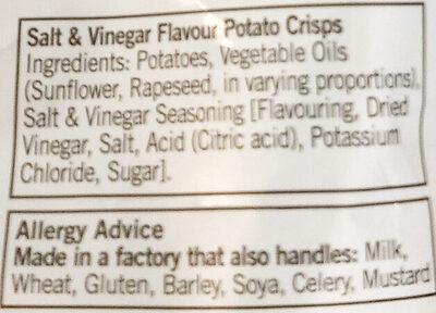 Salt & Vinegar Crisps - Ingrédients - en