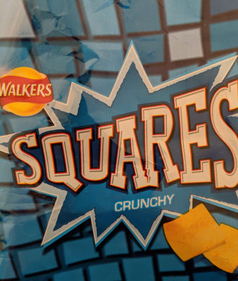 Walkers Squares Salt & Vinegar Snacks 27.5G - Product