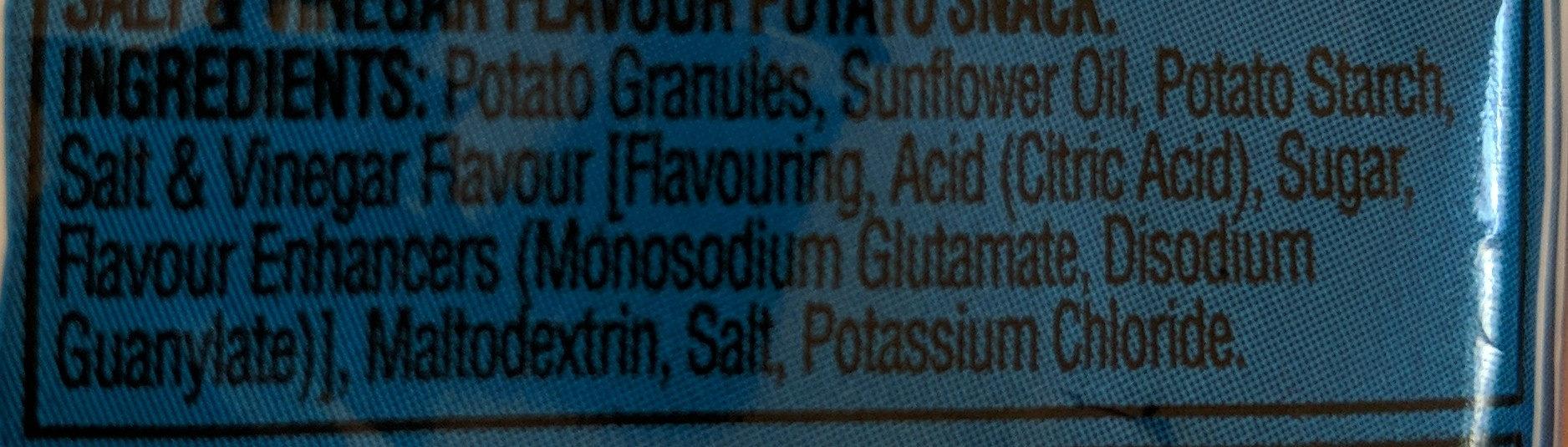 Walkers Squares Salt & Vinegar Snacks 27.5G - Ingrediënten - en