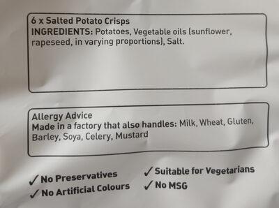 Crinkles Simply Salted Crisps 6 x - Ingredients - en