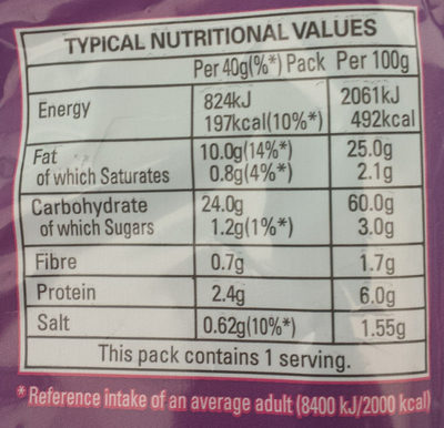 Monster Munch - Pickled Onion - Informations nutritionnelles