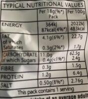 Smiths Frazzles Crispy Bacon Snacks 8 x - Valori nutrizionali - en