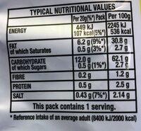 Quavers - Nutrition facts