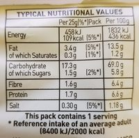 Oven Baked - Nutrition facts - en