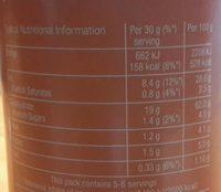 Stax paprika - Informations nutritionnelles - fr
