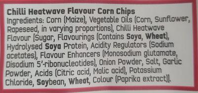 Chilli Heatwave Tortilla Chips - Ingredients - en