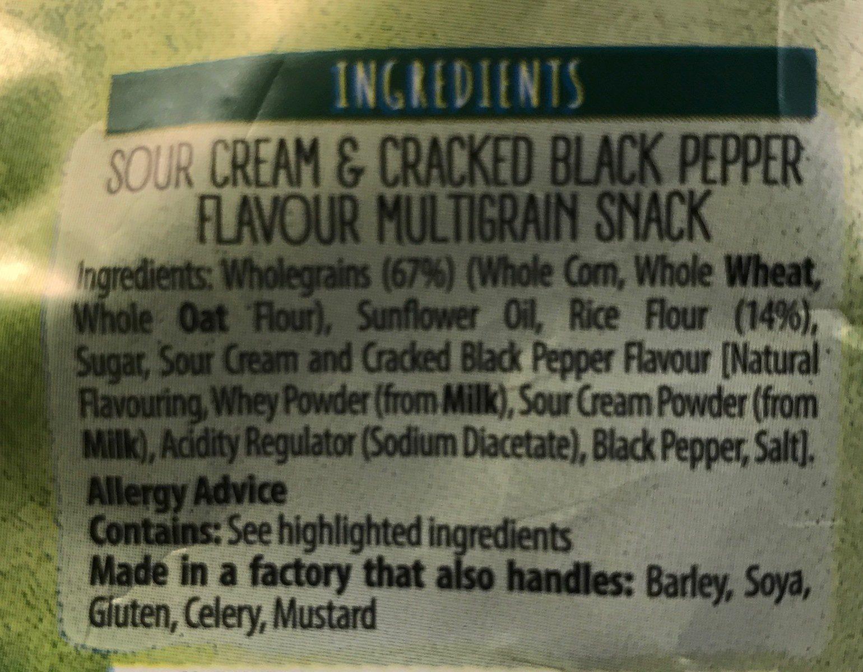 Sour Cream & Pepper Multigrain Snacks - Ingrediënten - fr
