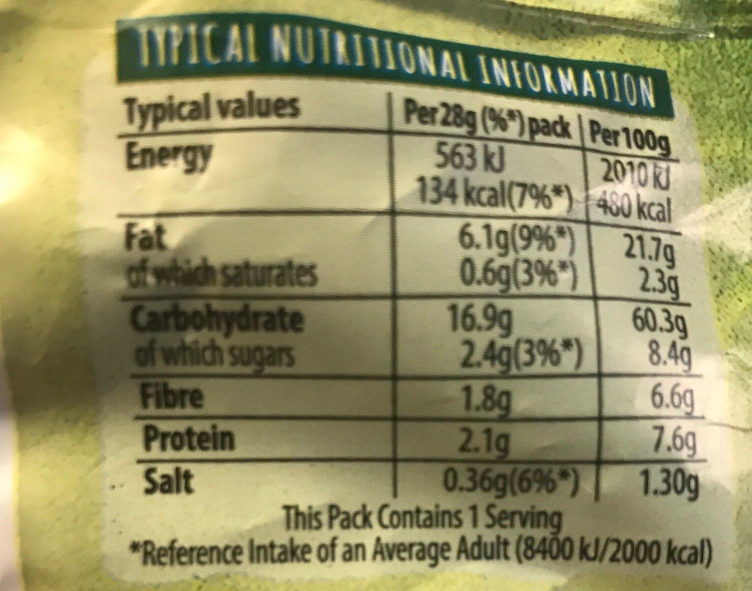 Sour Cream & Pepper Multigrain Snacks - Voedingswaarden - fr