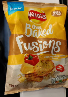 oven baked fusions cheddar & red pepper flavour - Produit - en